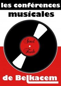 Mon ami Belkacem anime des conférences musicales, sur Paris, centrées sur l'histoire du Rhythm'n'Blues, de la Soul et du Funk et plus généralement sur l'histoire des musiques noires américaines (Gospel, Blues, Jazz, Hip Hop…)
